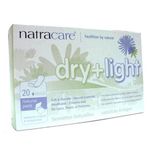 Serviettes dry-light incontinence Natracare, 20 pièces