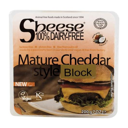 Queso vegano cheddar style Sheese, 200 g