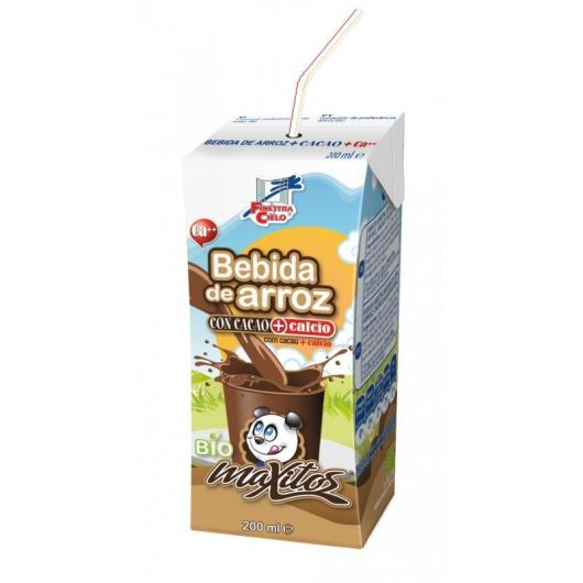 Mini bebida Maxitos de Arroz con Cacao y Calcio La Finestra sul Cielo, 200 ml