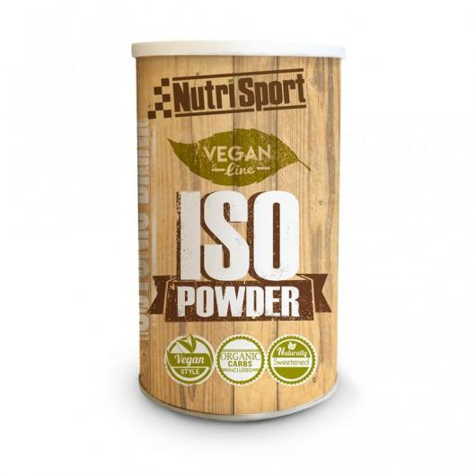 Vegan Iso Powder Frutos del Bosque Nutrisport, 490 g