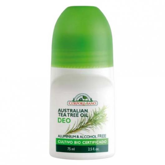Desodorante roll-on árbol de té Corpore Sano, 75 ml
