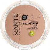 Maquillaje Polvos compacto nº2 Light Sand Sante, 9 g