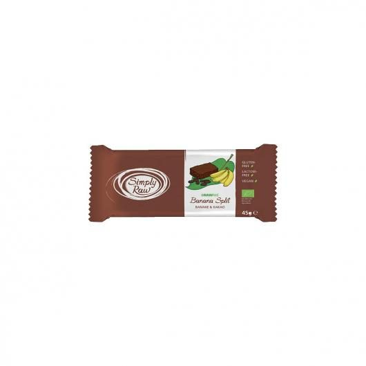 Brownie de plátano y cacao Simply Raw, 45 g