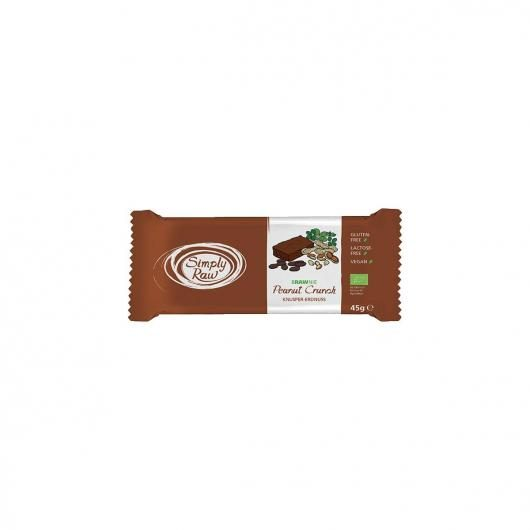 Brownie de cacahuetes Simply Raw, 45 g