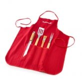 Set 4 utensílios + avental, Barbecook