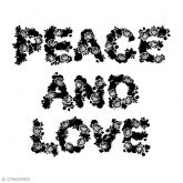 Sello de madera peace & love