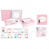 Kit álbum scrapbooking Fashionista