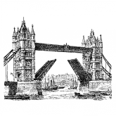 Sello de madera tower bridge