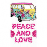 Sello transparente peace & love