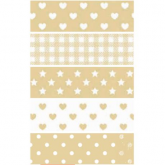 Washi Tape Lollipop beige 5 unités 15 mm x 5 m