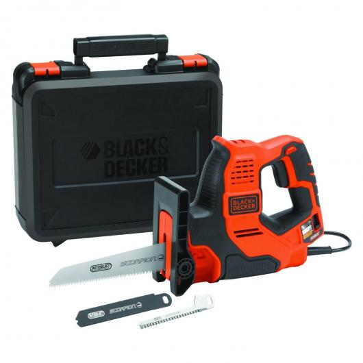 Sierra Scorpion 500W AutoSelect + 3 hojas y maletín Black+Decker RS890K-QS