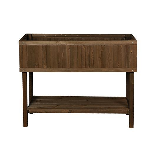 Table de culture en bois marron