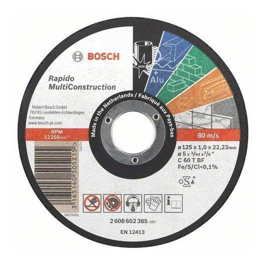 Disco de corte multimaterial 125 mm