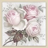Servilleta decoupage vintage Big rose 1 unidad