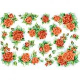 Papel arroz decoupage rose rosse