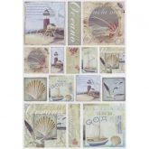 Papel arroz decoupage seaside