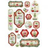 Papel arroz decoupage christmas cake