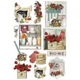 Papel arroz decoupage country kitchen