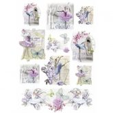 Papel arroz decoupage danse