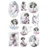 Papel arroz decoupage piccoli angeli