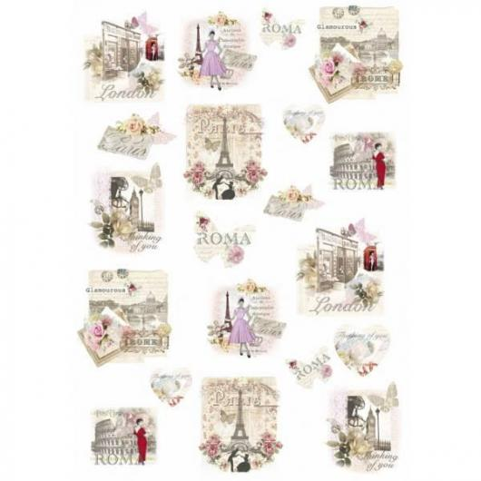 Papel arroz decoupage thinking of you