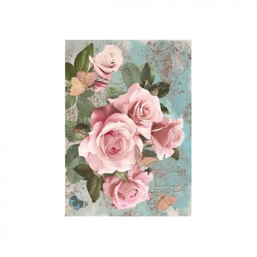Papel arroz decoupage rose