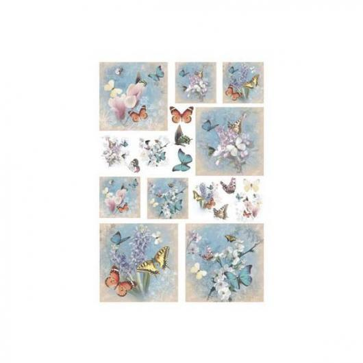 Papel arroz decoupage papillon 50x35cm