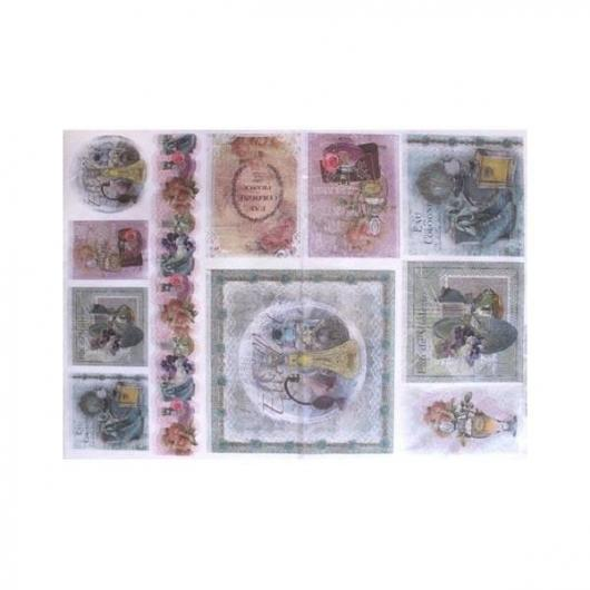 Papel arroz decoupage profumo