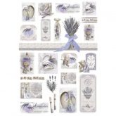 Papel arroz decoupage lavander