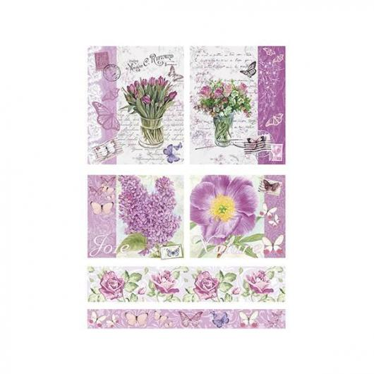 Papel arroz decoupage spring