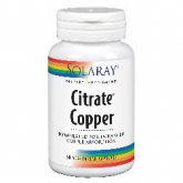 Cobre citrato 2 mg Solaray, 60 caps