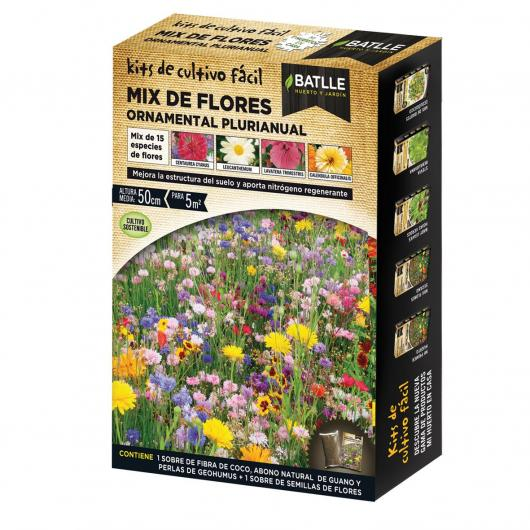 Kit cultiuvo Mix flores ornamentais Plurianuais