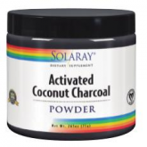 Charcoal coconut activated Solaray, 75 g