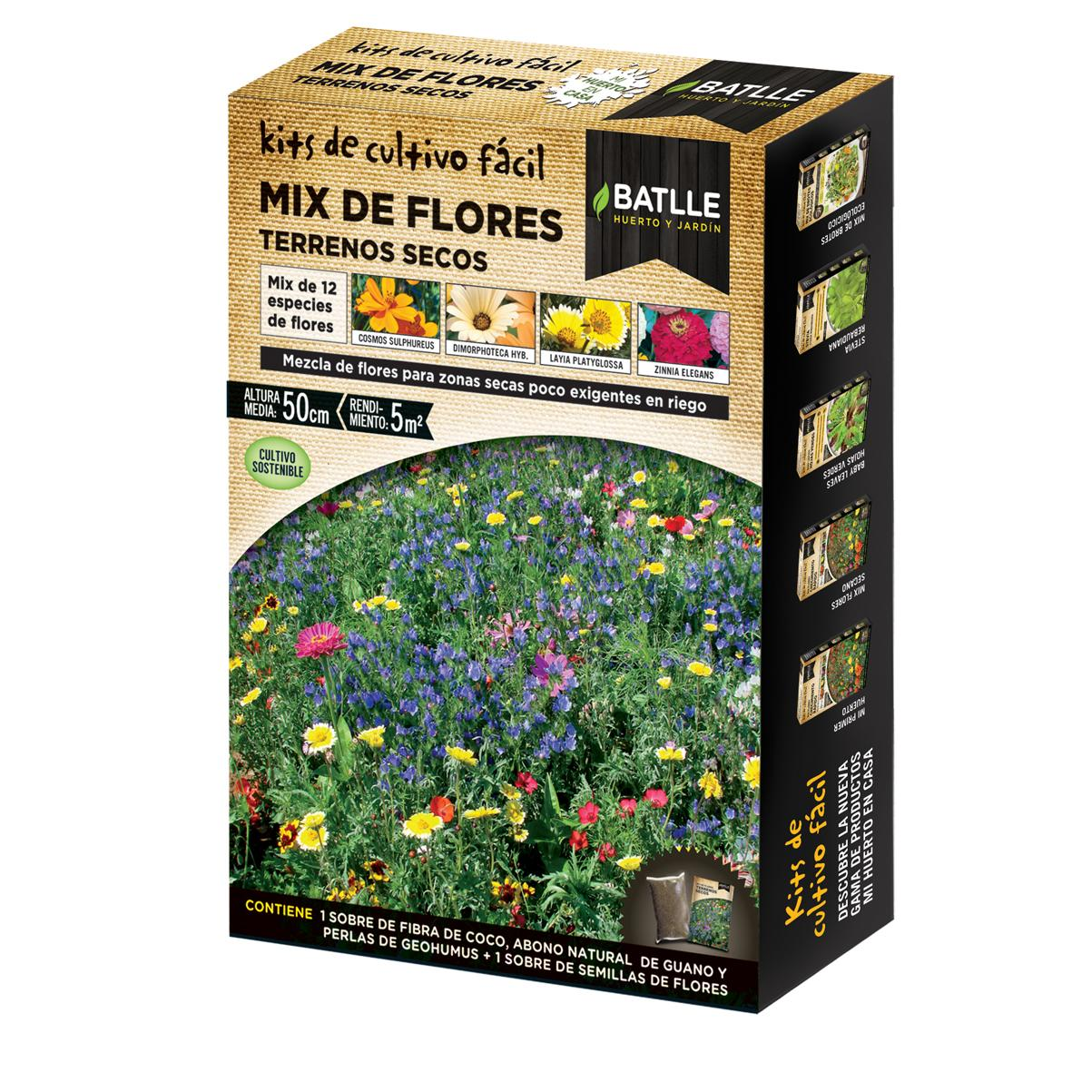 Kit de cultivo mix flores de terrenos secos por 5 36 em for Kit de cultivo de interior
