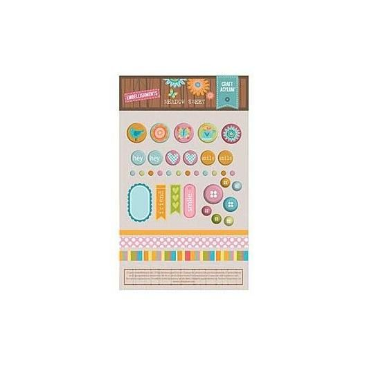 Set 37 adornos surtidos Meadow Sweet Sizzix