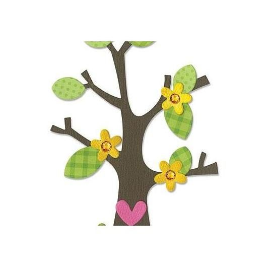 Troquel Tree with Flower, Heart & Leaves Bigz Sizzix