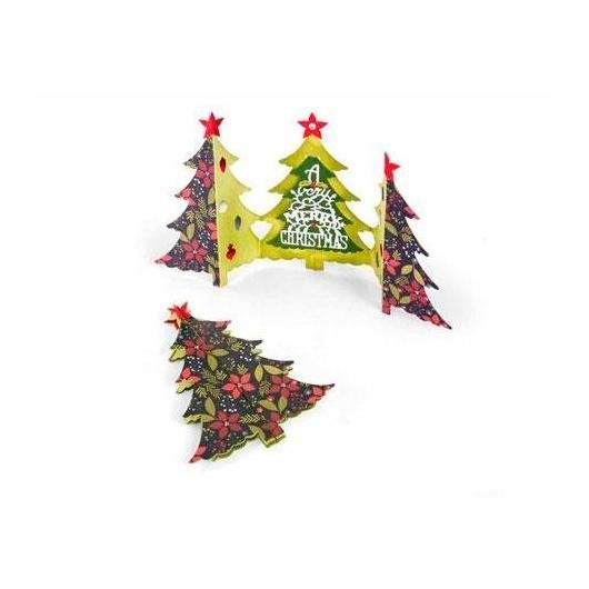 Set 6 troqueles Card Christmas tree fold-a-long Thinlits Sizzix