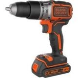 Taladro percutor sin escobillas / Brushless 18V 1.5 Ah BL188KB Black+Decker