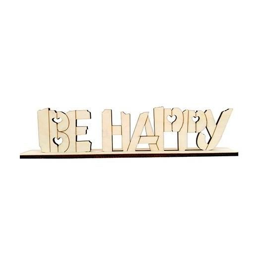 Letrero decoracion Be Happy Dayka