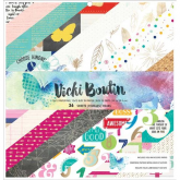 Set papel scrap 12 x 12  Vicky Boutin AC