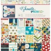 Set de papel de scrapbooking 30 x 30 Go now go Shimelle AC