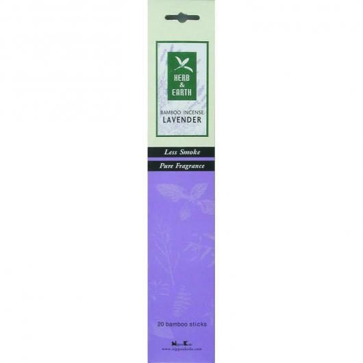 Herb & Earth Lavanda incienso con bambú Tierra Zen, 20 Barritas