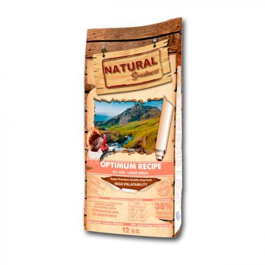 Receta Optimum  perros grandes Natural Greatness 12Kg