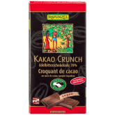 Tableta de chocolate negro crunch Rapunzel, 80 g