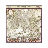 Papel decoupage mapa color Dayka