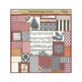 Papel decoupage patchwork acebo y partitura Dayka