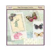 Papel decoupage mariposas color y escrito Dayka