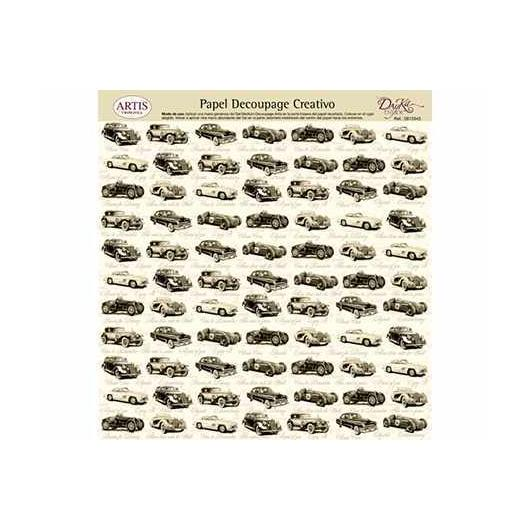 Papel decoupage coches antiguos Dayka