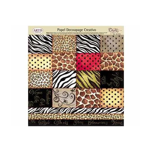Papel decoupage chic safari Dayka