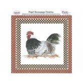 Papel decoupage gallina Dayka